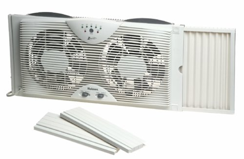 Holmes Dual Blade Twin Window Fan With One Touch